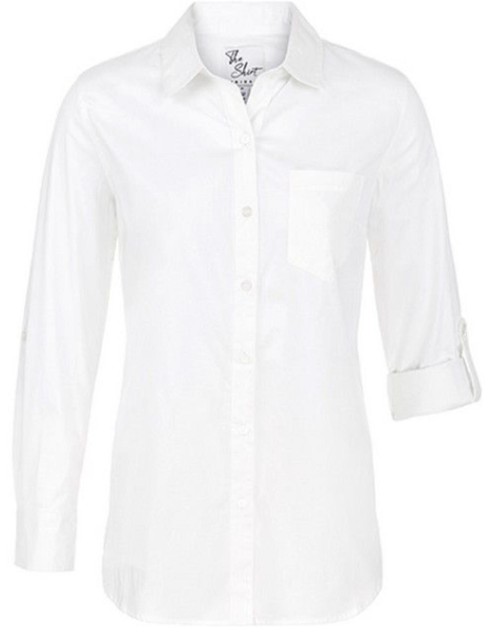 Roll Sleeve White Shirt