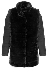 Faux Fur Jacket w/ Removable Sleeves
