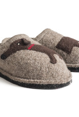 Haflinger Doggy Slippers- tan/natural