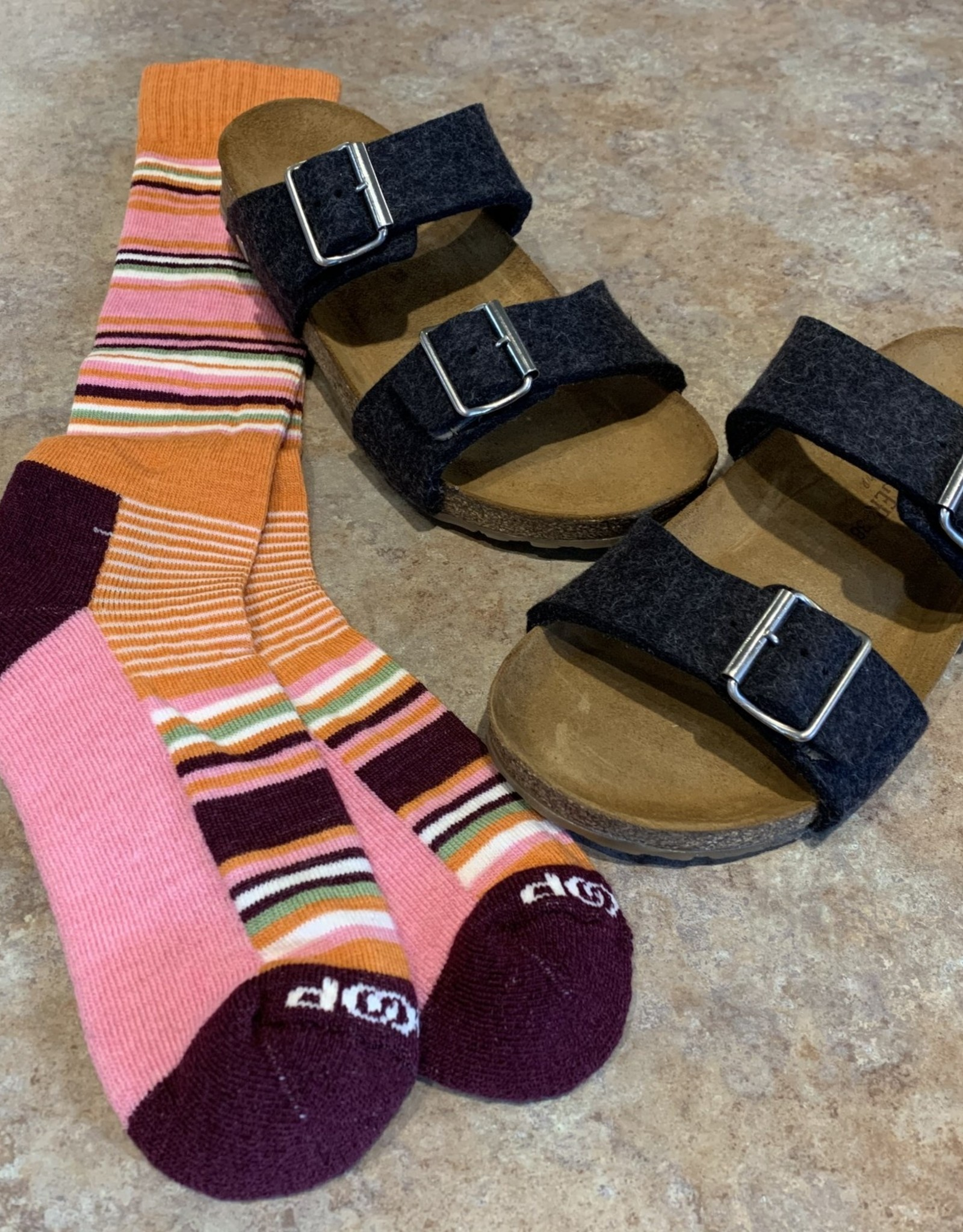Haflinger Anabel wool sandal- Charcoal/Graphite