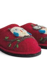 Haflinger Olivia owl slippers