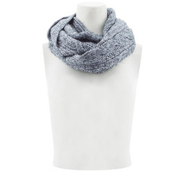 Aventura Cable Infinity Scarf- Dark Slate