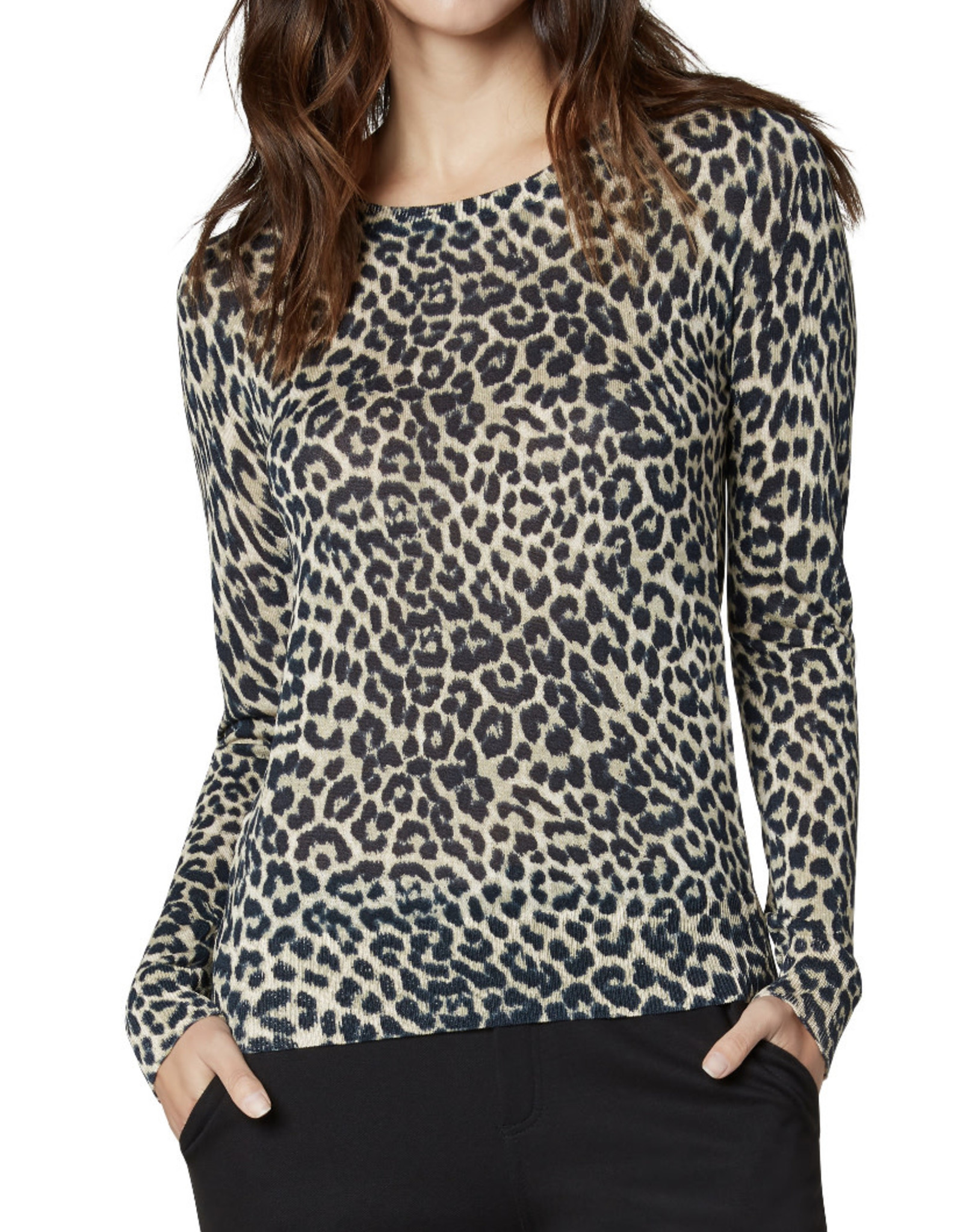 Liverpool Raglan sweater w/ side slits- black