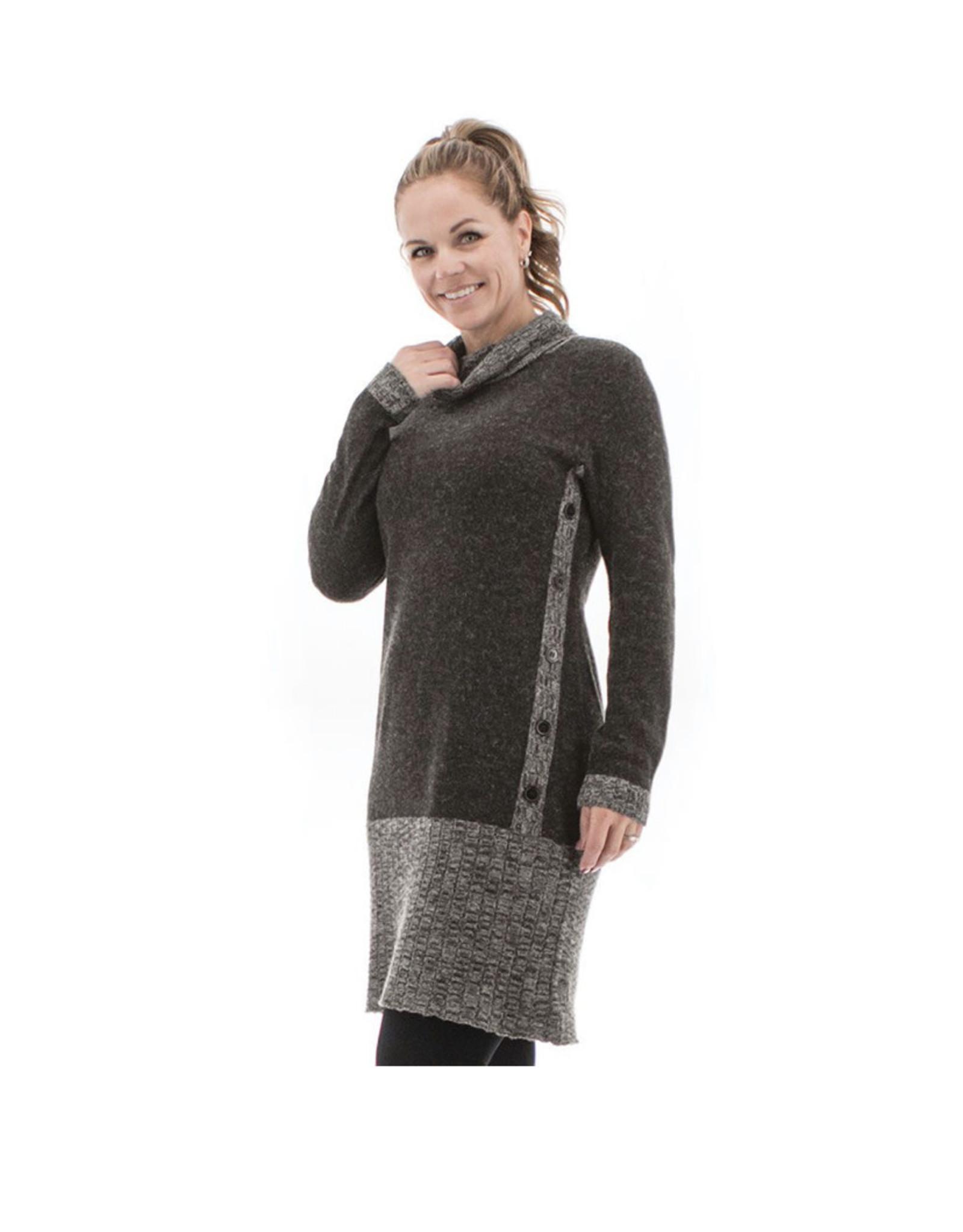 Aventura Shay dress-charcoal