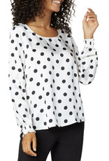 Liverpool Polka Dot smocked top