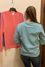 R. Options L/S pigment tee Periwinkle