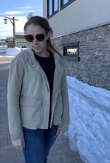 L/S hooded jacket Almond