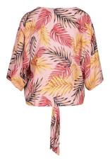Tie front v-neck blouse