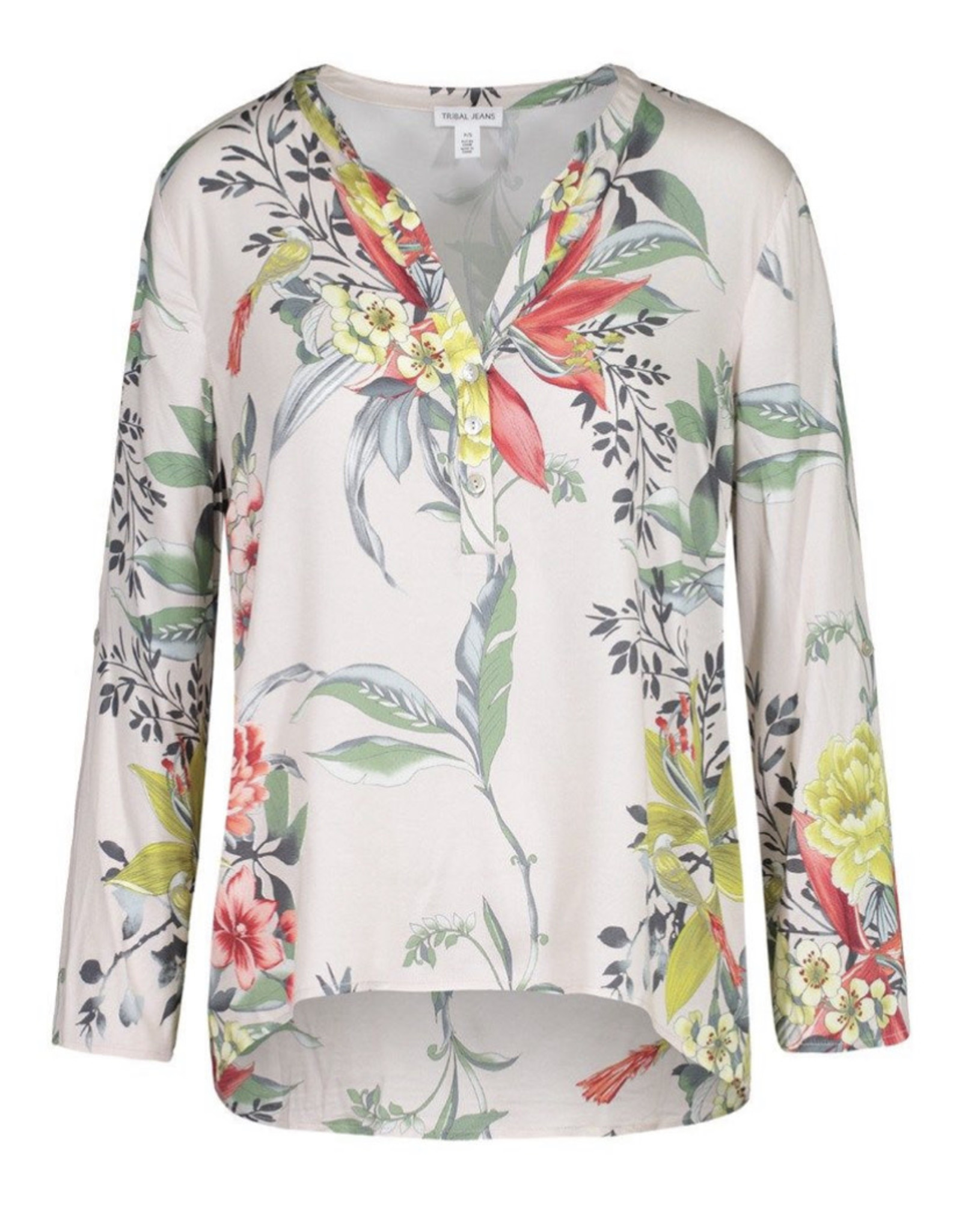 Roll sleeve blouse Dandelion