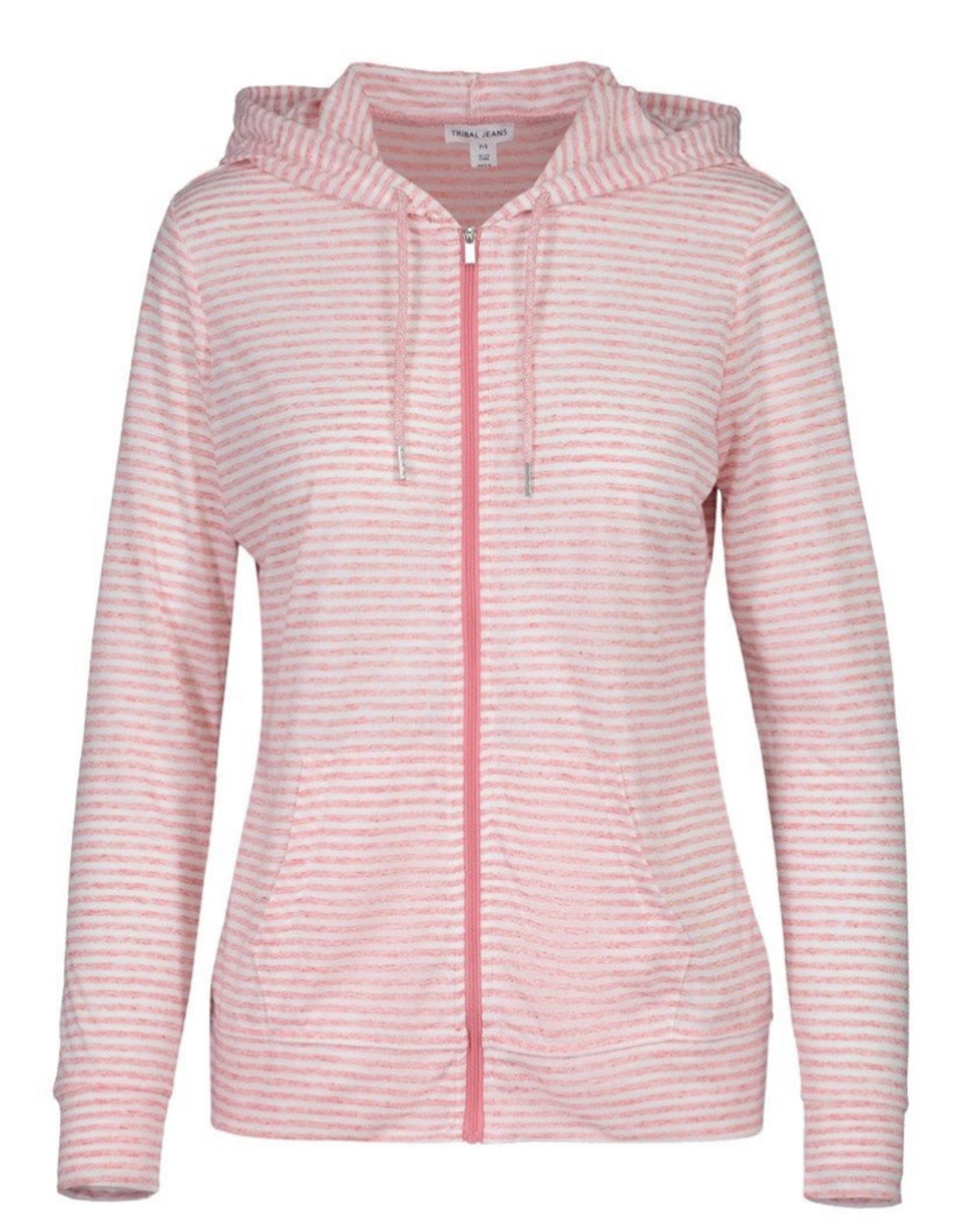 Zip hoodie Peach Tulip