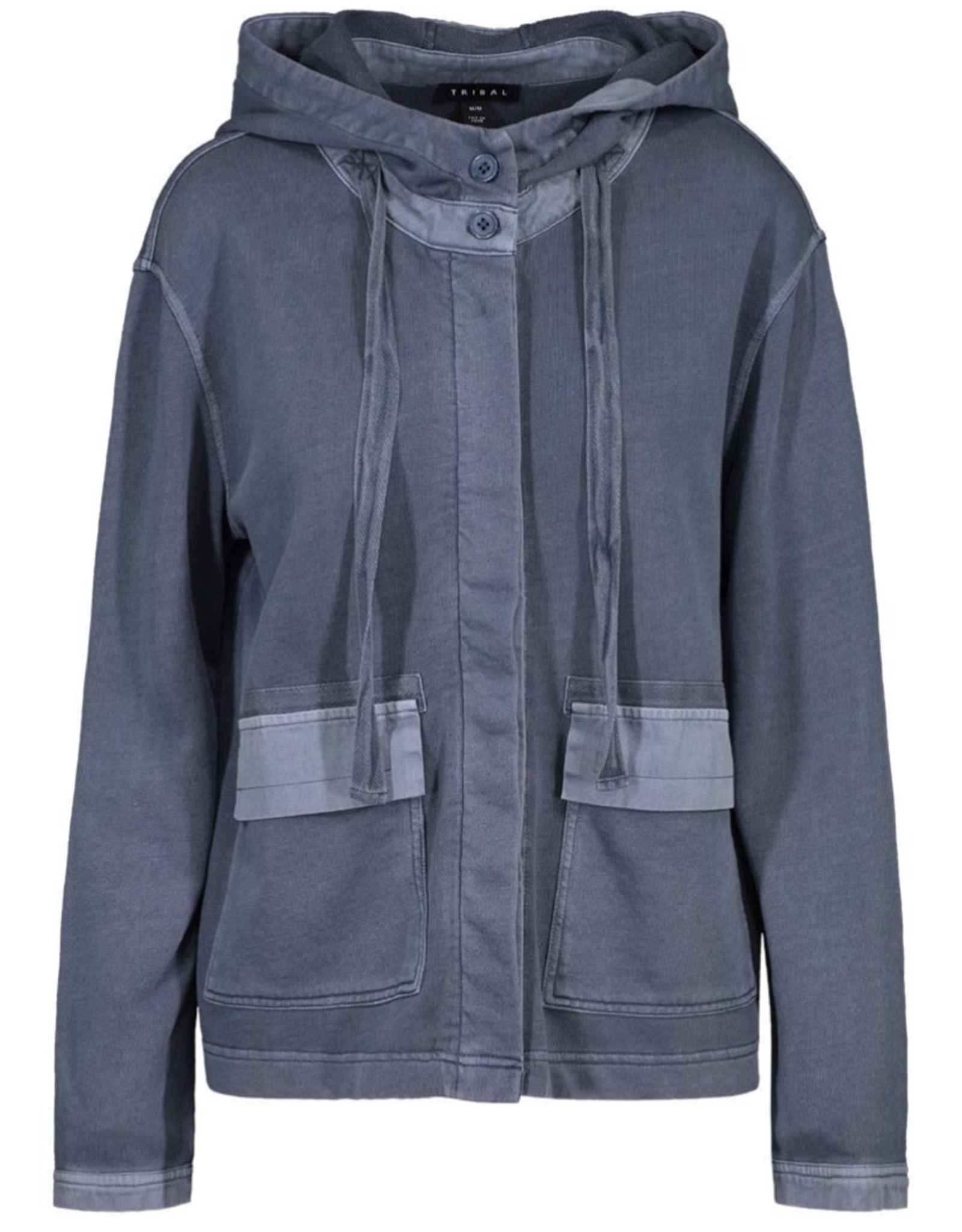 L/s hooded jacket Blue Haze