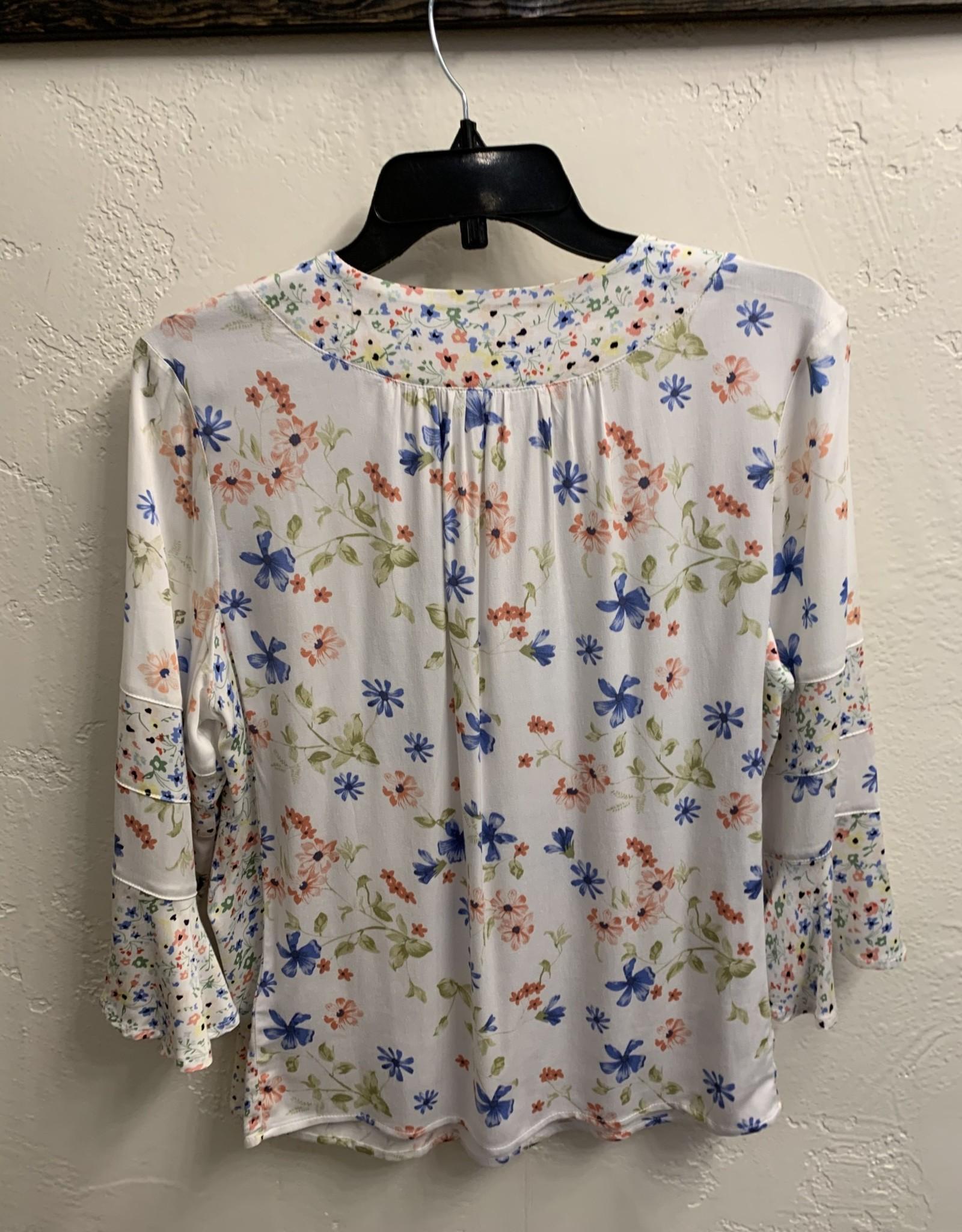Bell sleeve blouse Peach Tulip