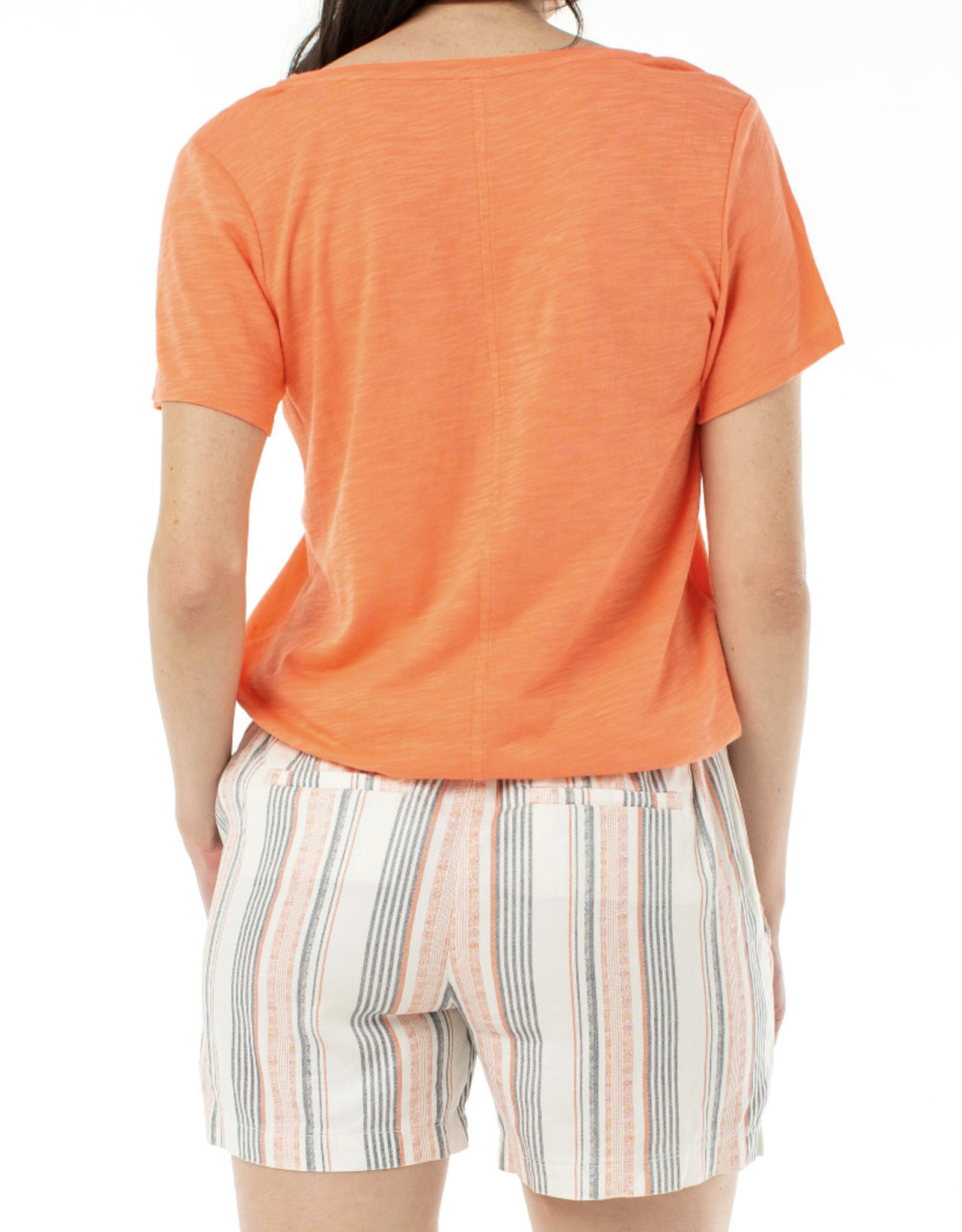 Liverpool S/s v-neck tee Light Coral