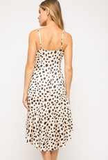 Satin leopard dress