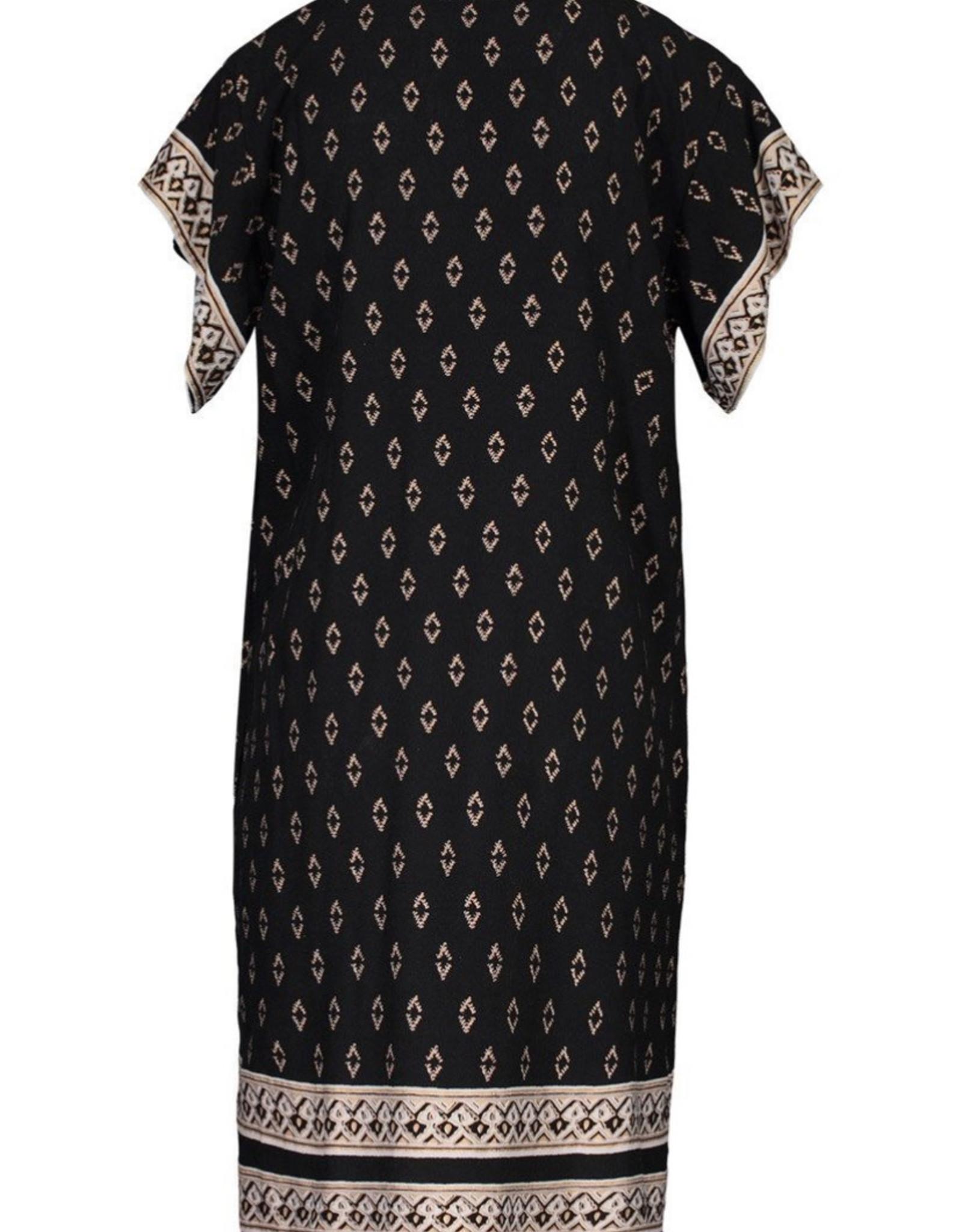 Flutter sleeve dress w/ tassels