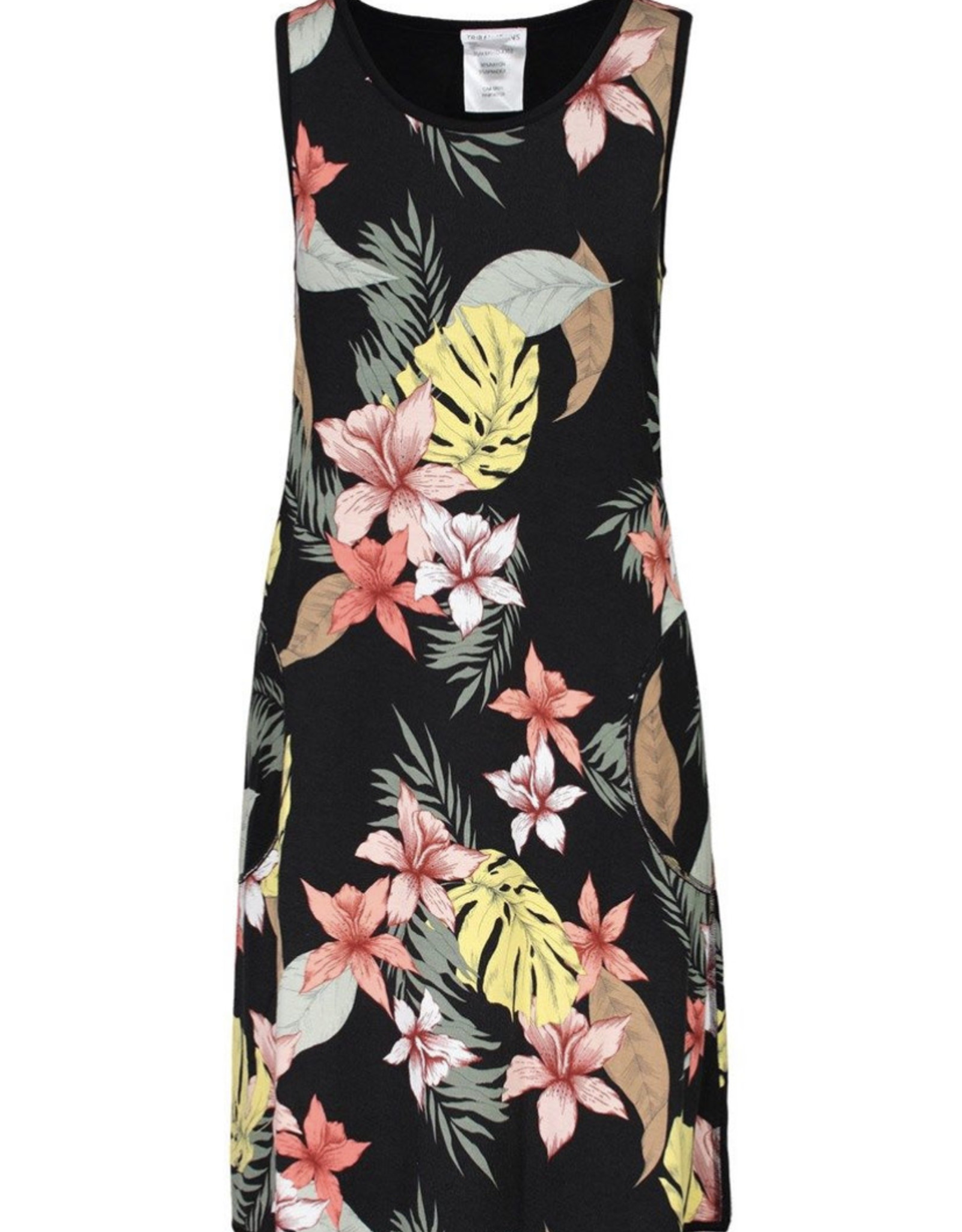 Reversible a-line dress Hibiscus