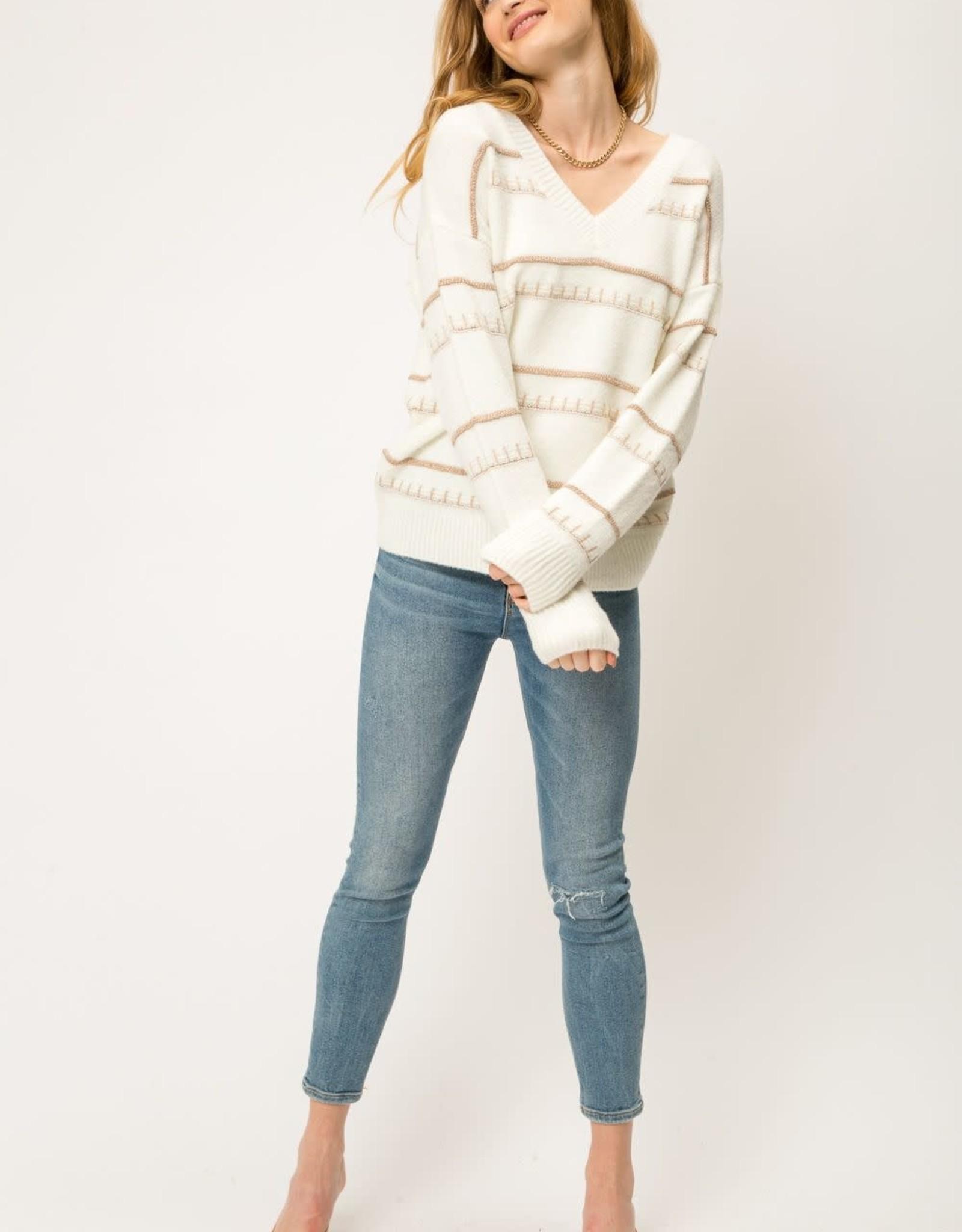 Ivory lurex sweater
