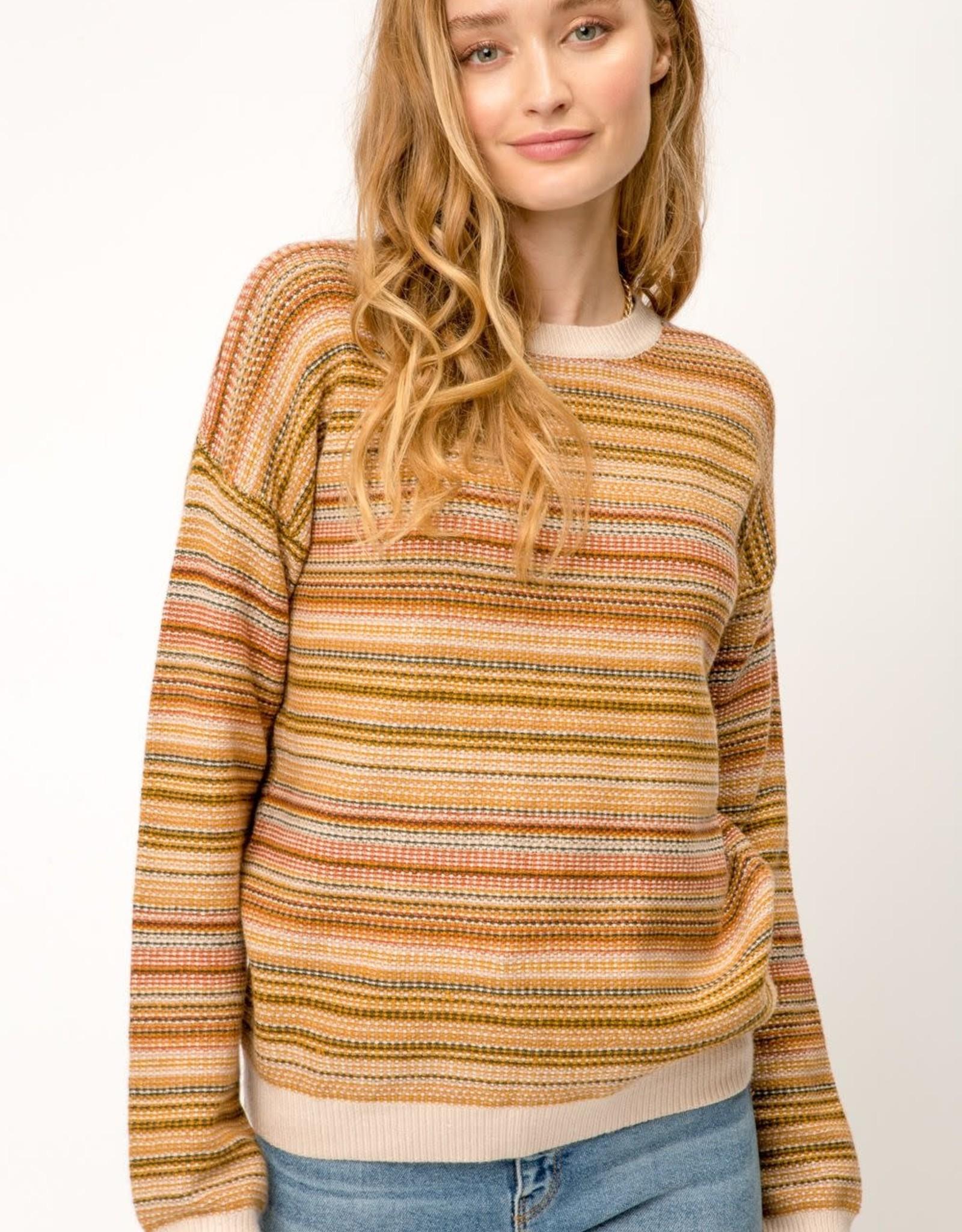 Brown stripe sweater