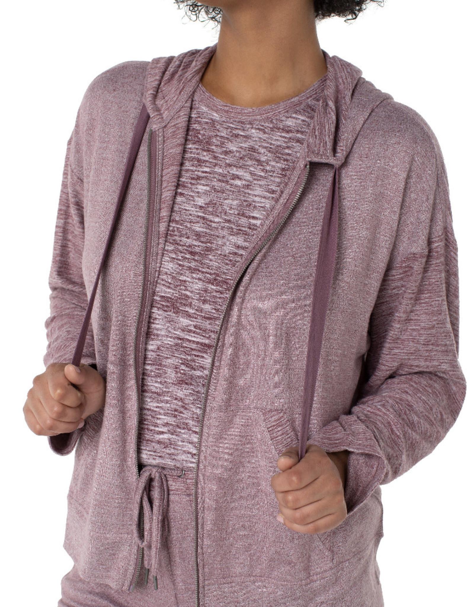 Liverpool Mauve dolman zip hoodie
