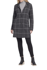 Single breasted overcoat Charcoal