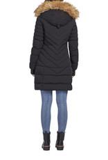 Long puffer jacket Black