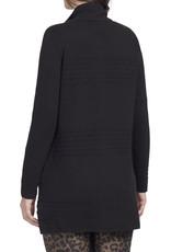 L/s zip cardigan Black