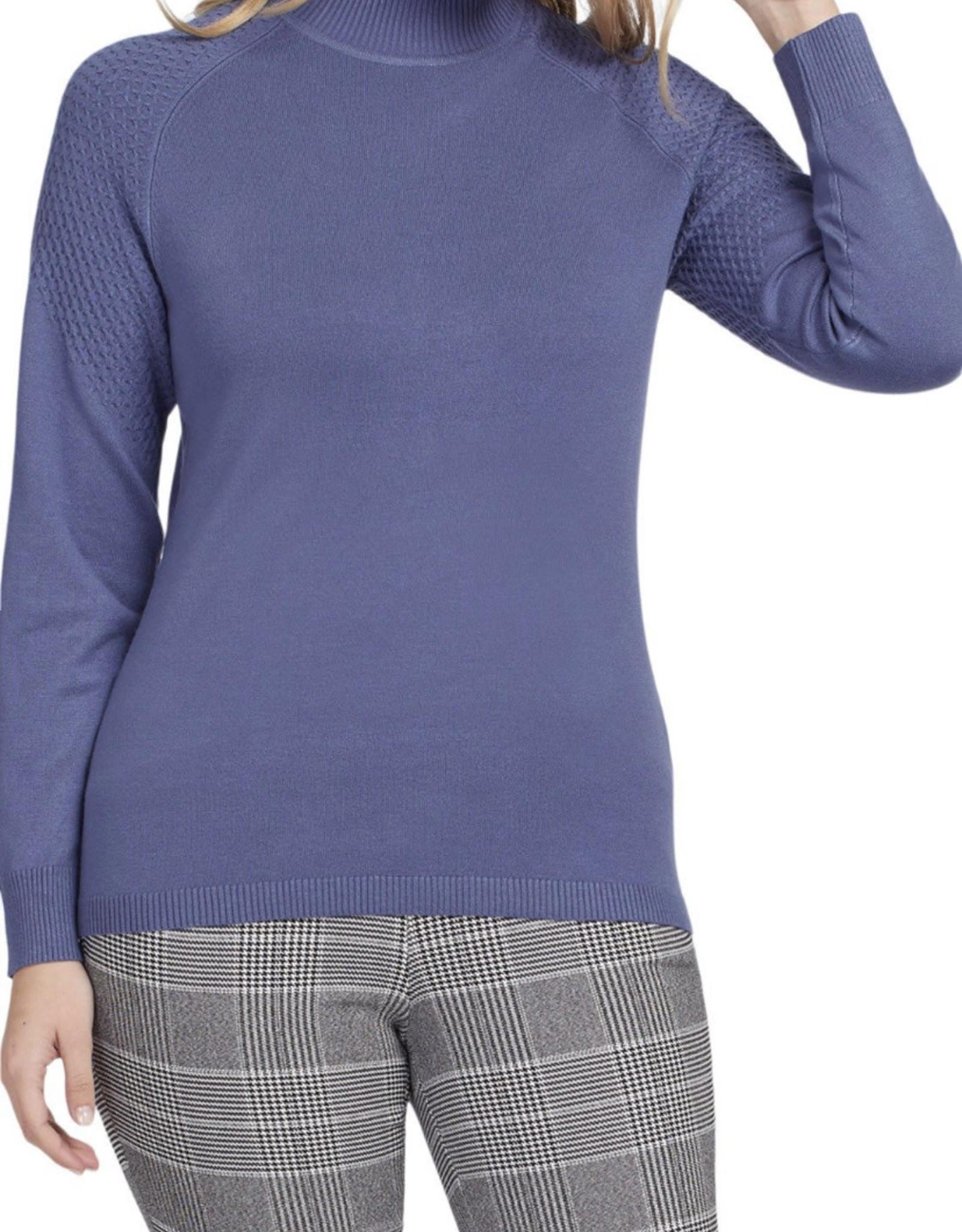 Mockneck sweater Blue