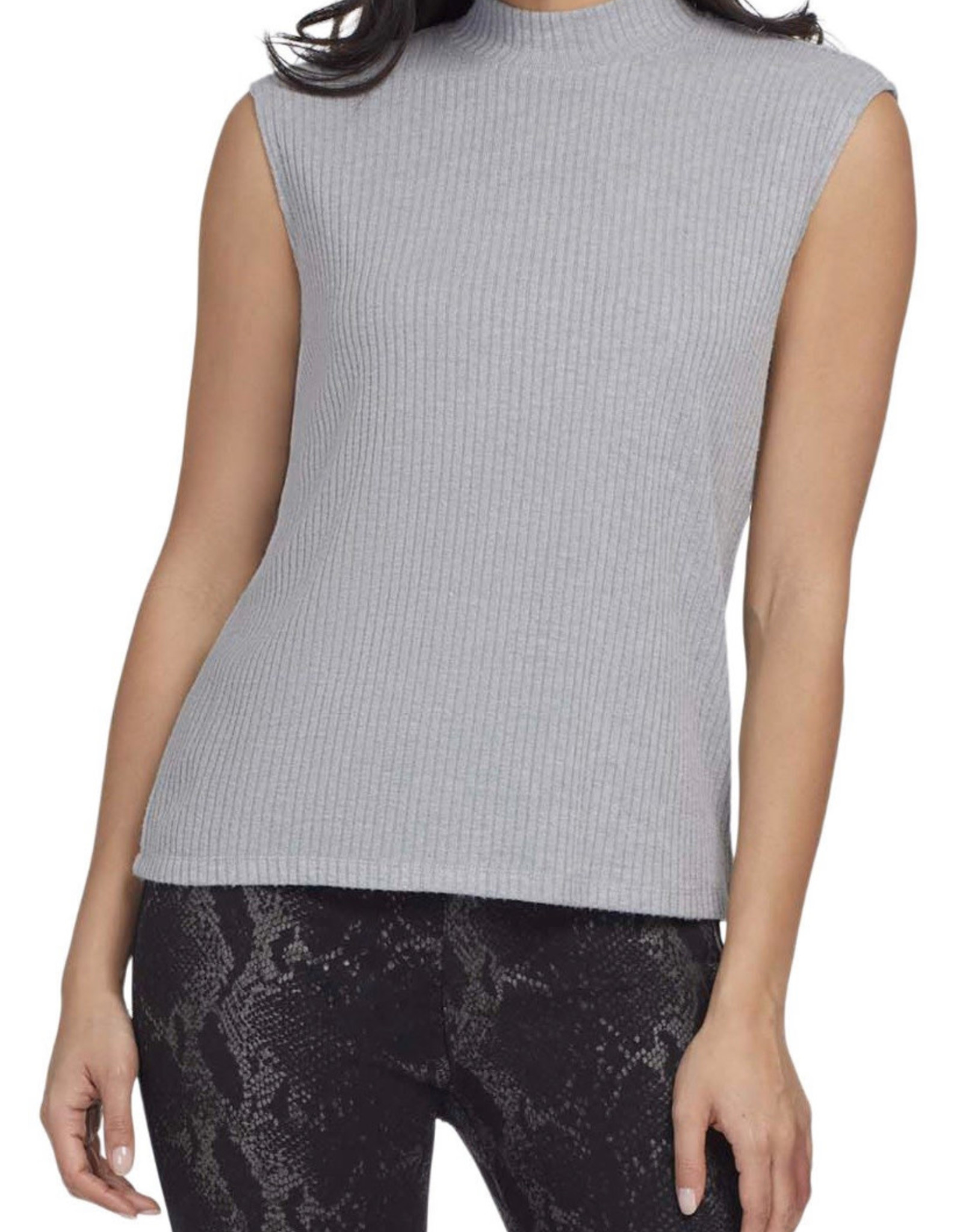 Mockneck sleeveless top Grey