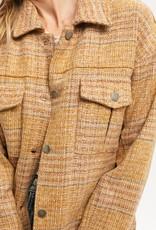 Mustard plaid jacket