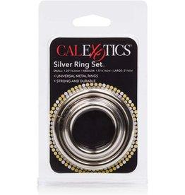 CALEXOTICS SILVER RING SET - S/M/L