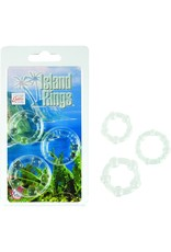 CALEXOTICS - ISLAND RINGS 3 PACK- CLEAR