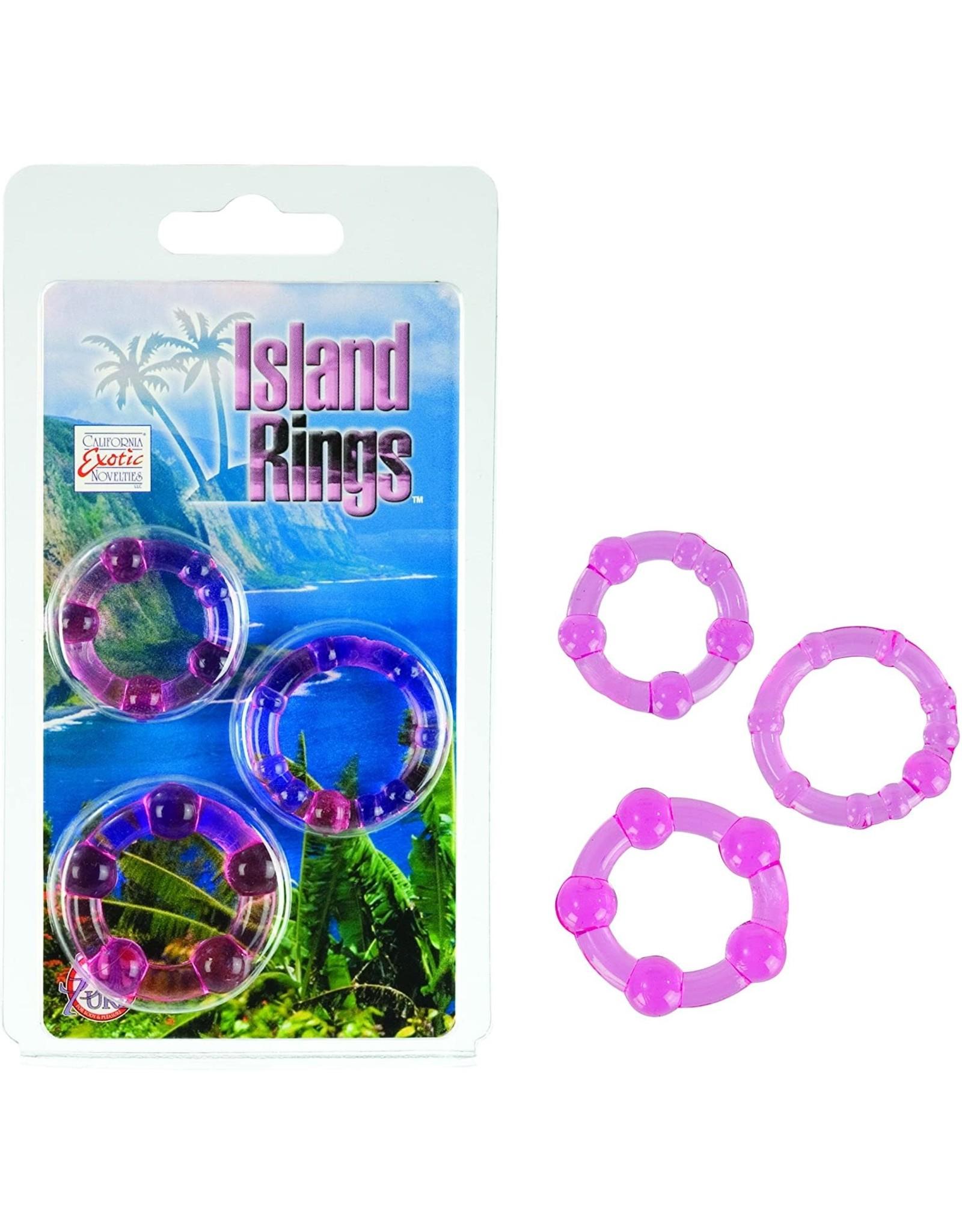 CALEXOTICS - ISLAND RINGS 3 PACK - PINK