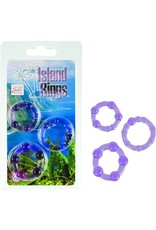 CALEXOTICS CALEXOTICS - ISLAND RINGS 3 PACK - PURPLE