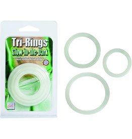 CALEXOTICS TRI RINGS SET - GLOW IN THE DARK