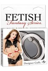 FETISH FANTASY - DESIGNER CUFFS - SILVER
