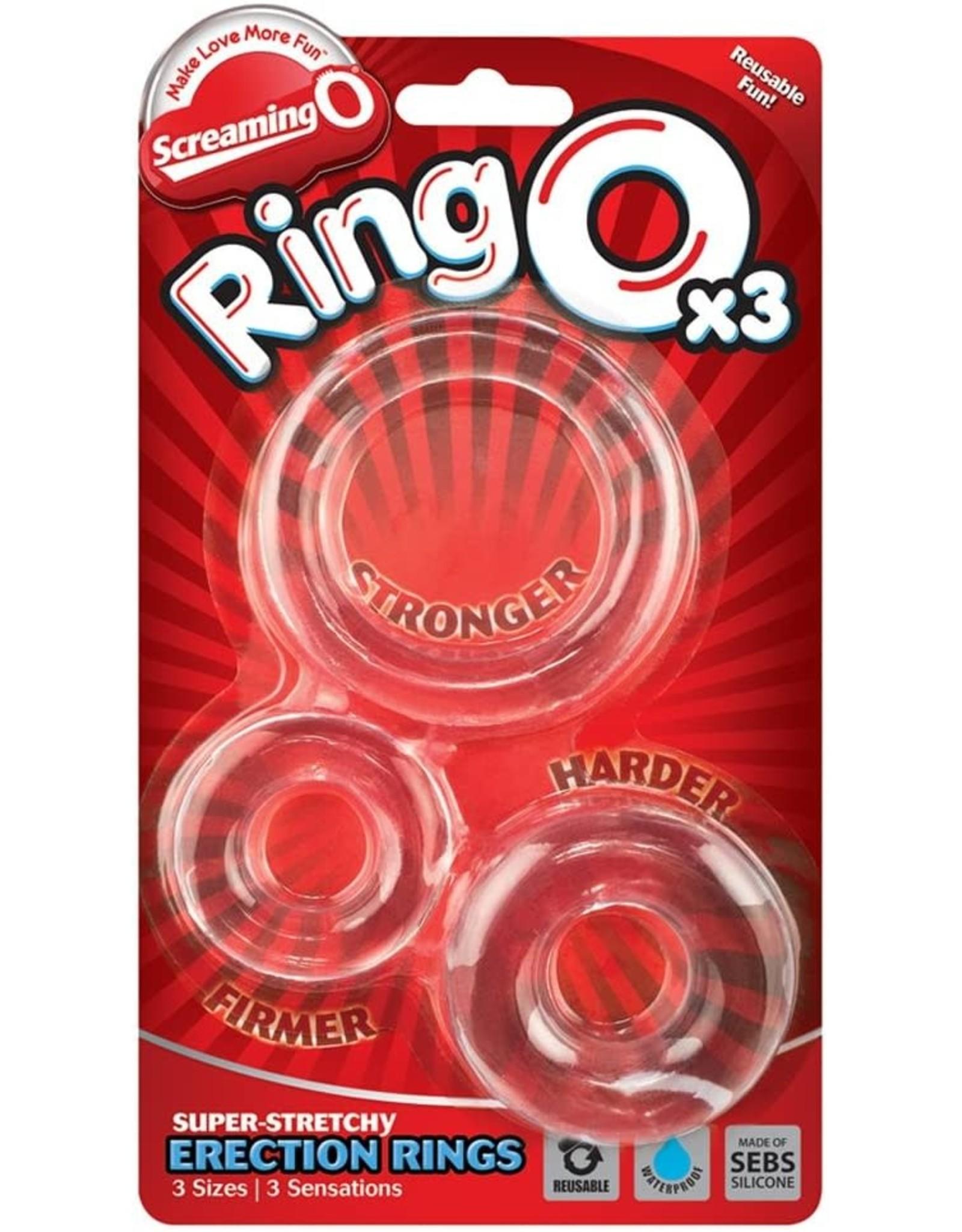 SCREAMING O - RING O x 3 - CLEAR