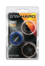 BLUSH - STAY HARD DONUT RINGS x 3