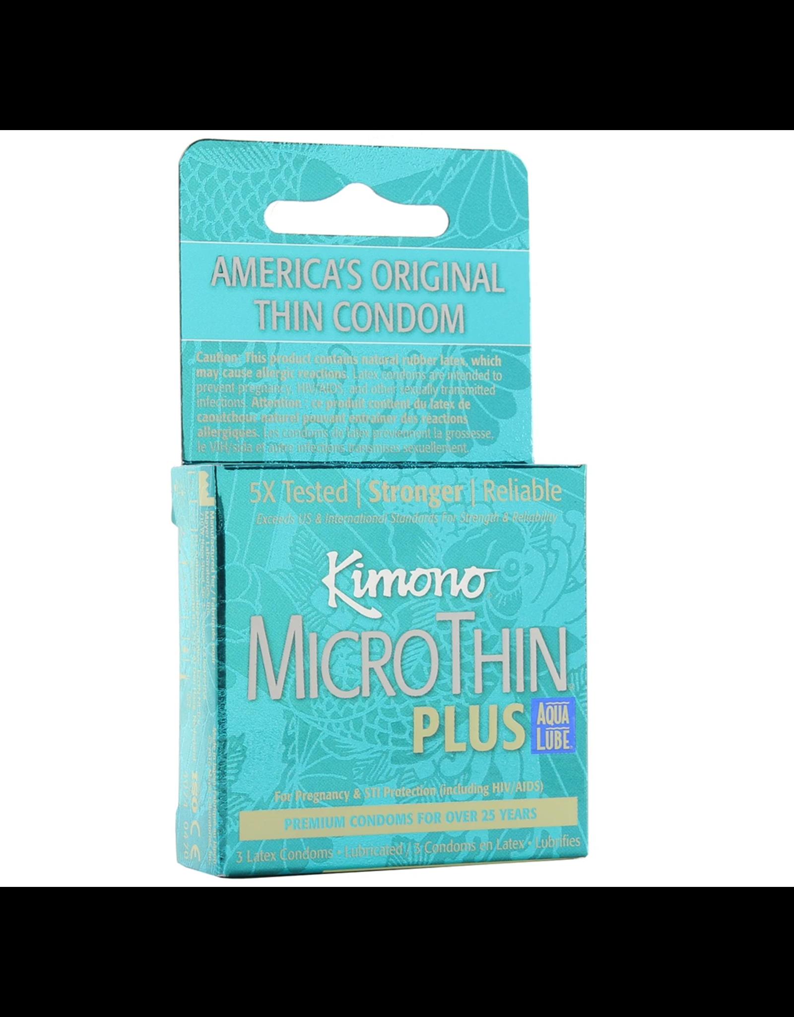 KIMONO KIMONO - MICRO THIN PLUS (AQUA BOX)  x3