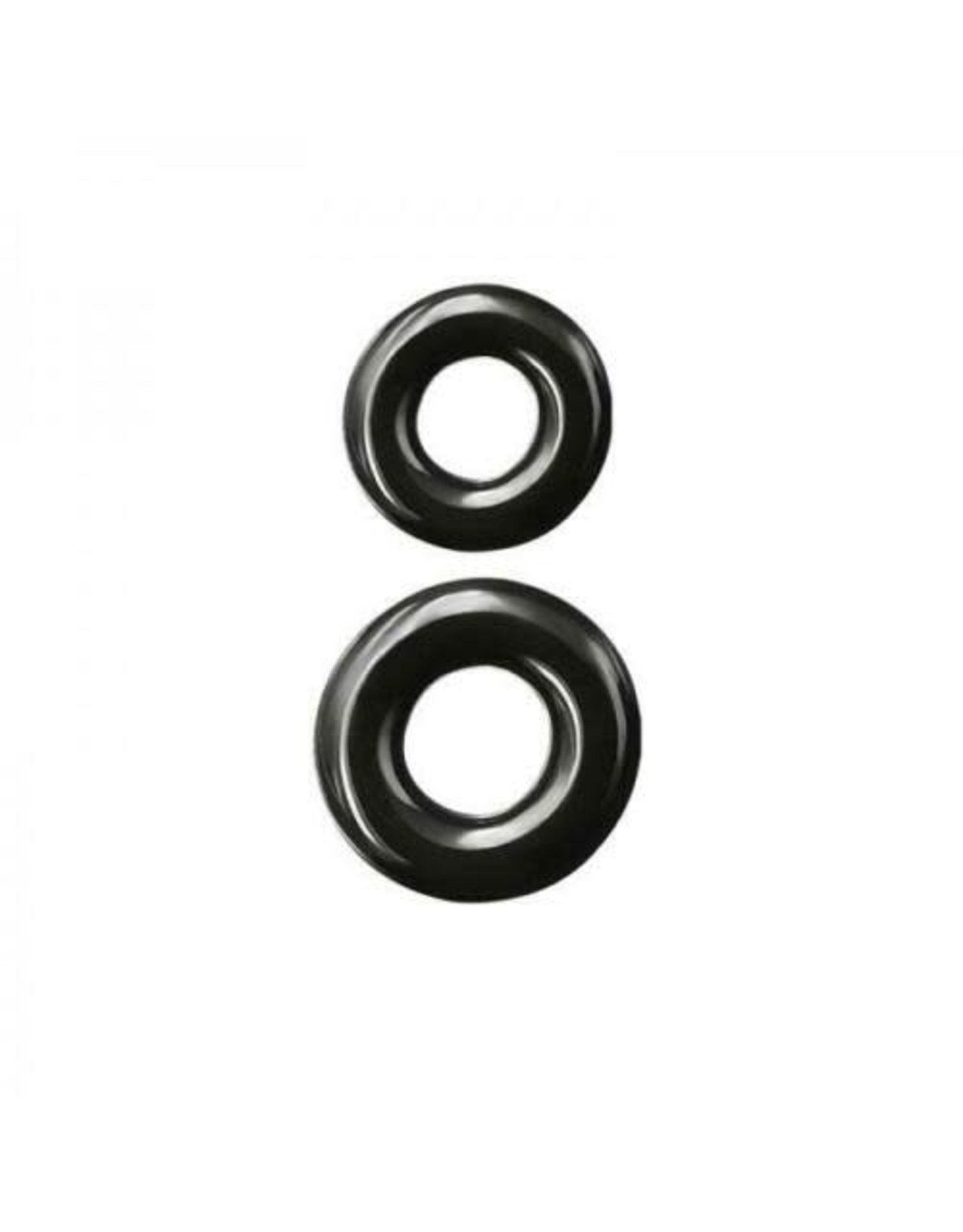 RENEGADE - DOUBLE STACK COCK RINGS - BLACK