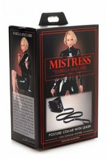 MISTRESS ISABELLA SINCLAIRE - 100% LEATHER POSTURE COLLAR WITH LEASH