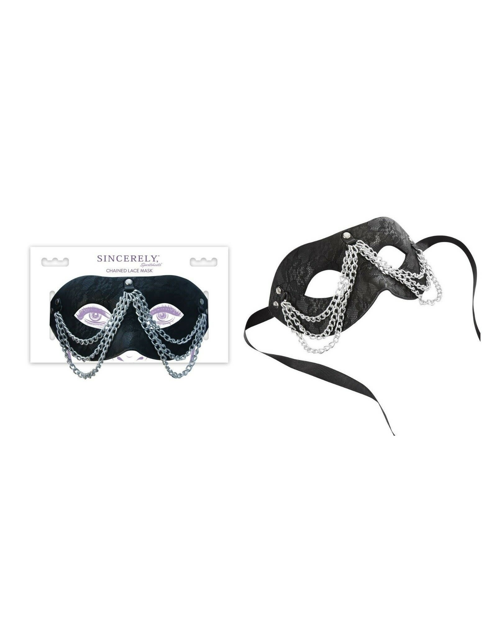 SINCERELY - CHAINED LACE MASK