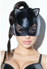 COQUETTE - WET LOOK AND LACE CAT MASK
