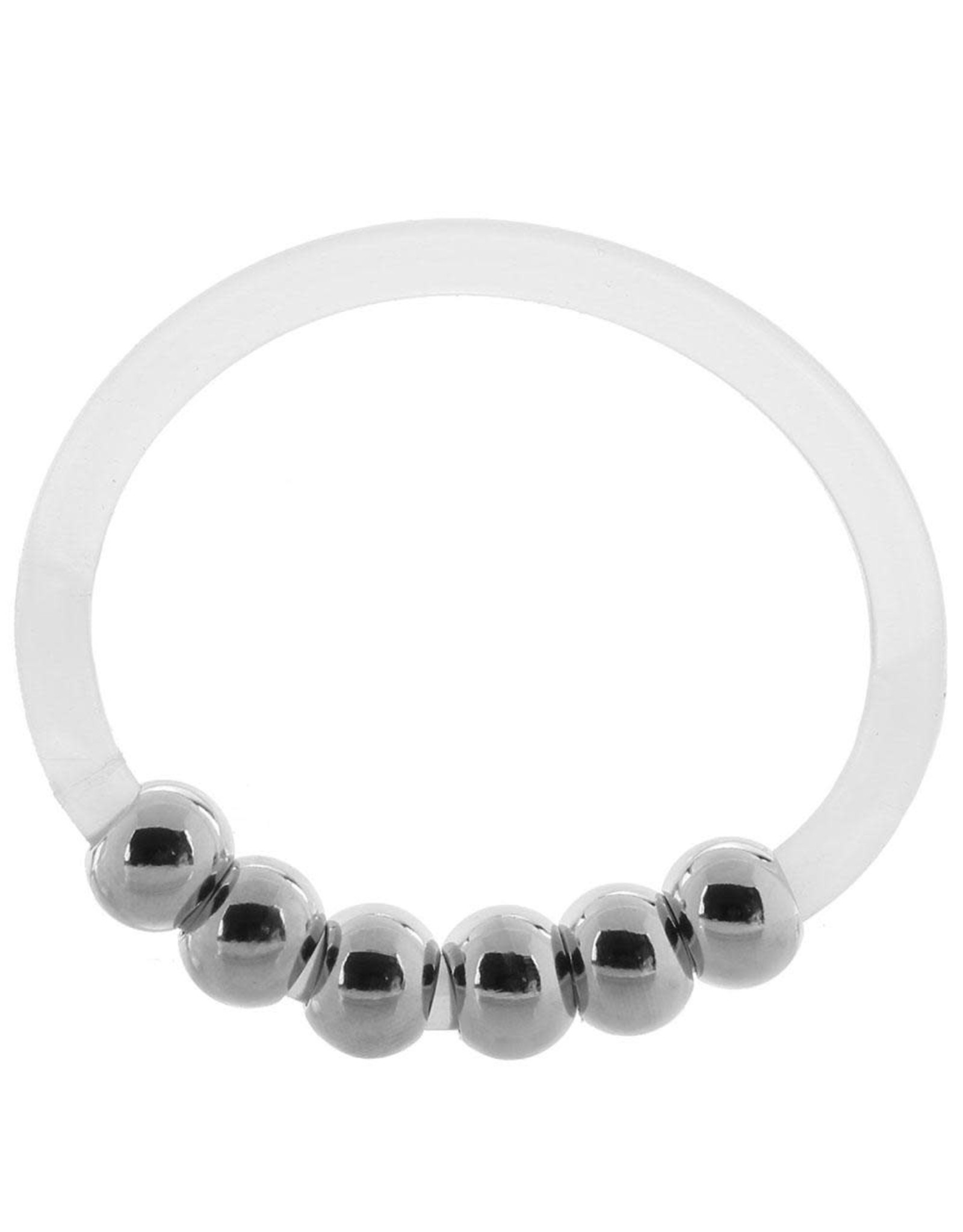 CALEXOTICS - STEEL BEADED SILICONE COCK RING - X-LARGE