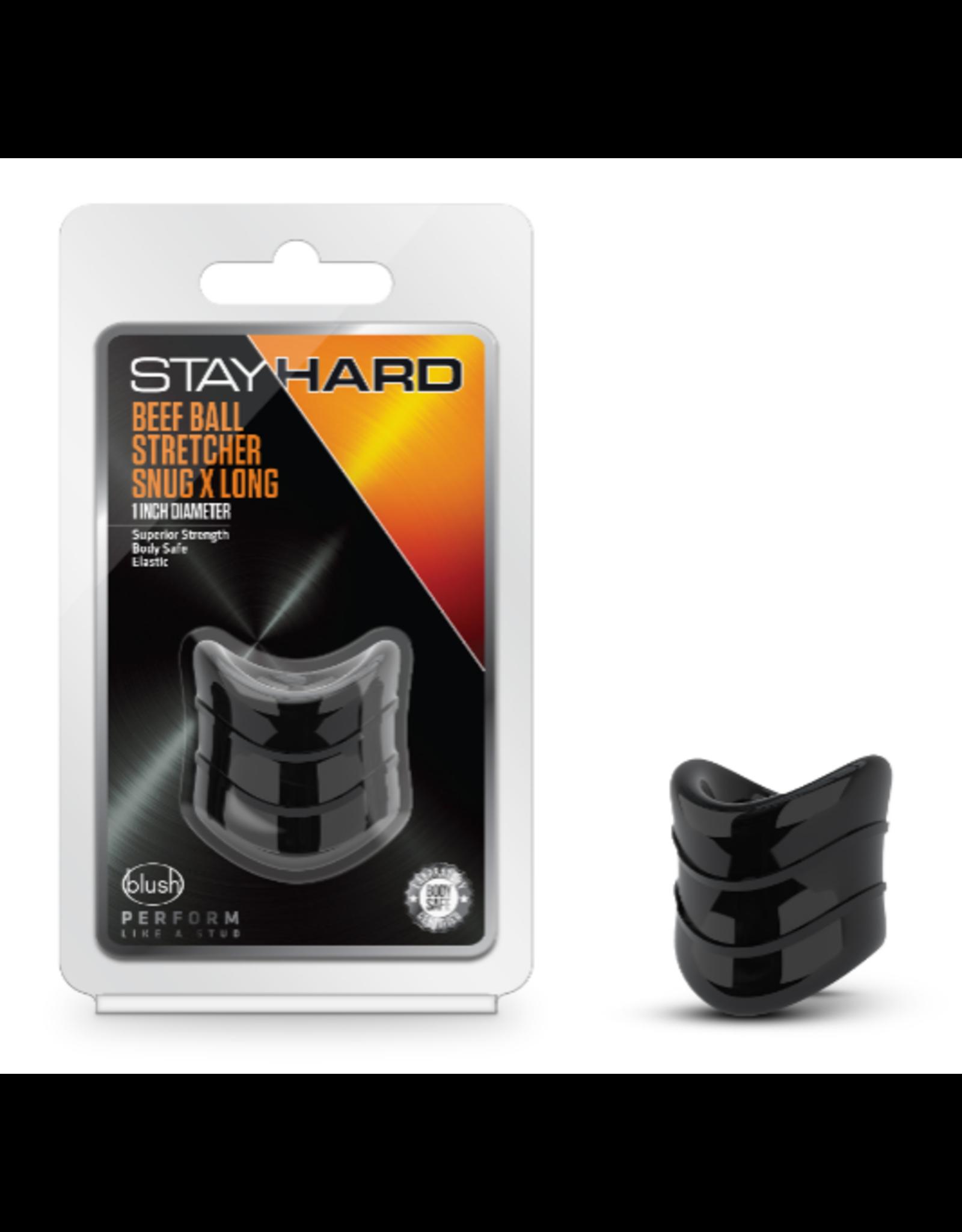 BLUSH - STAY HARD - BEEF BALL STRETCHER X LONG - BLACK
