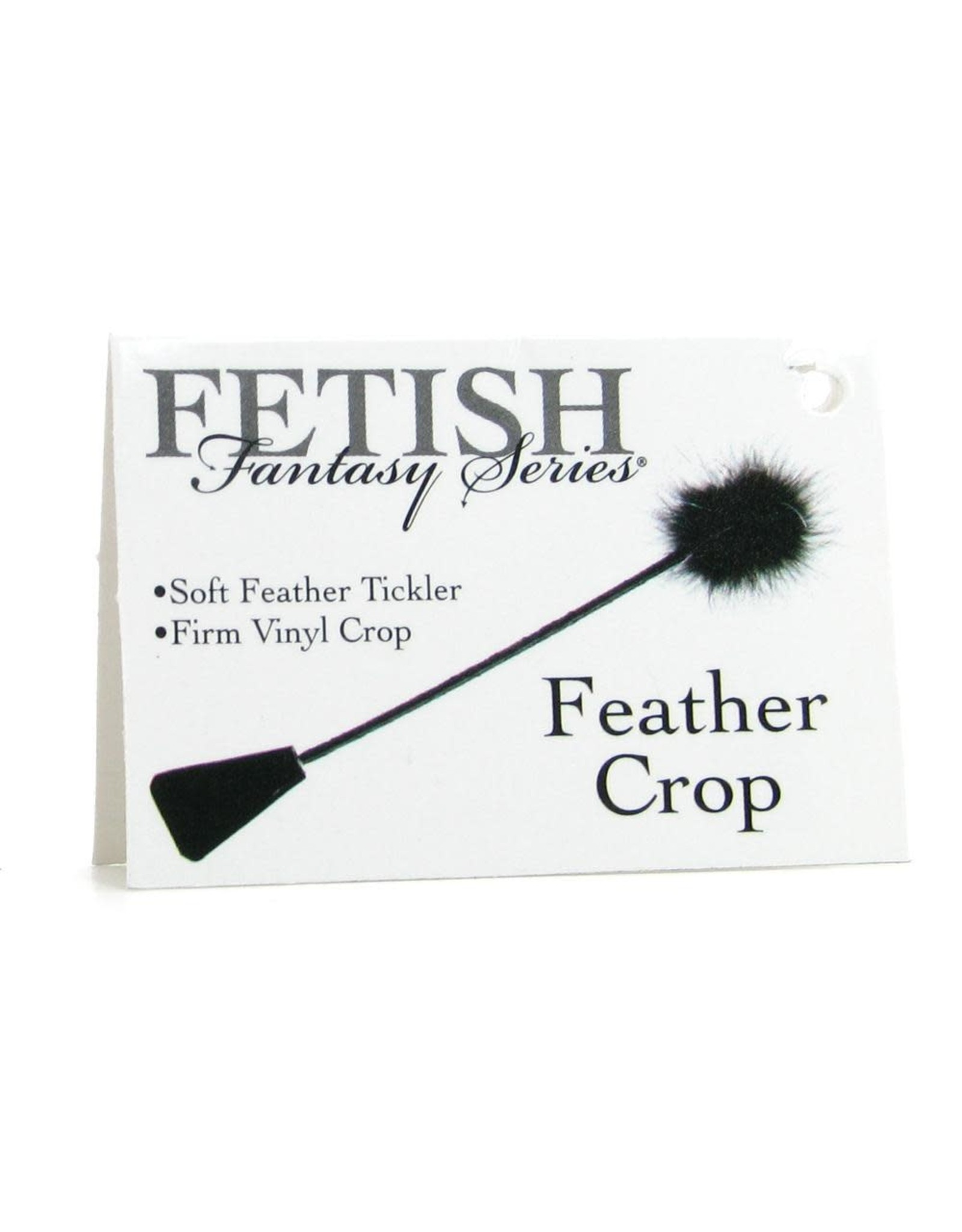 FETISH FANTASY -  FEATHER CROP - BLACK