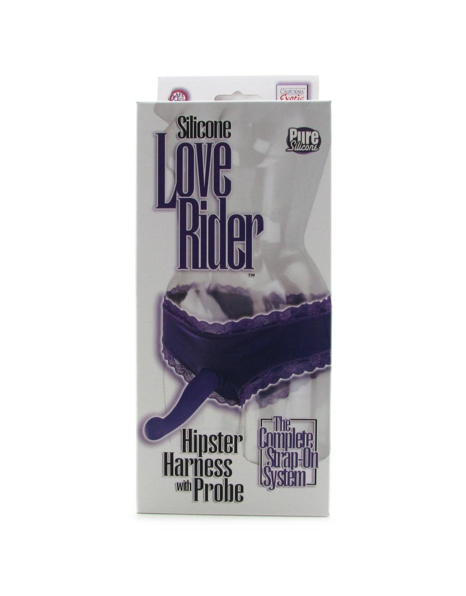 LOVE RIDER - HIPSTER HARNESS WITH SILICONE PROBE - PURPLE