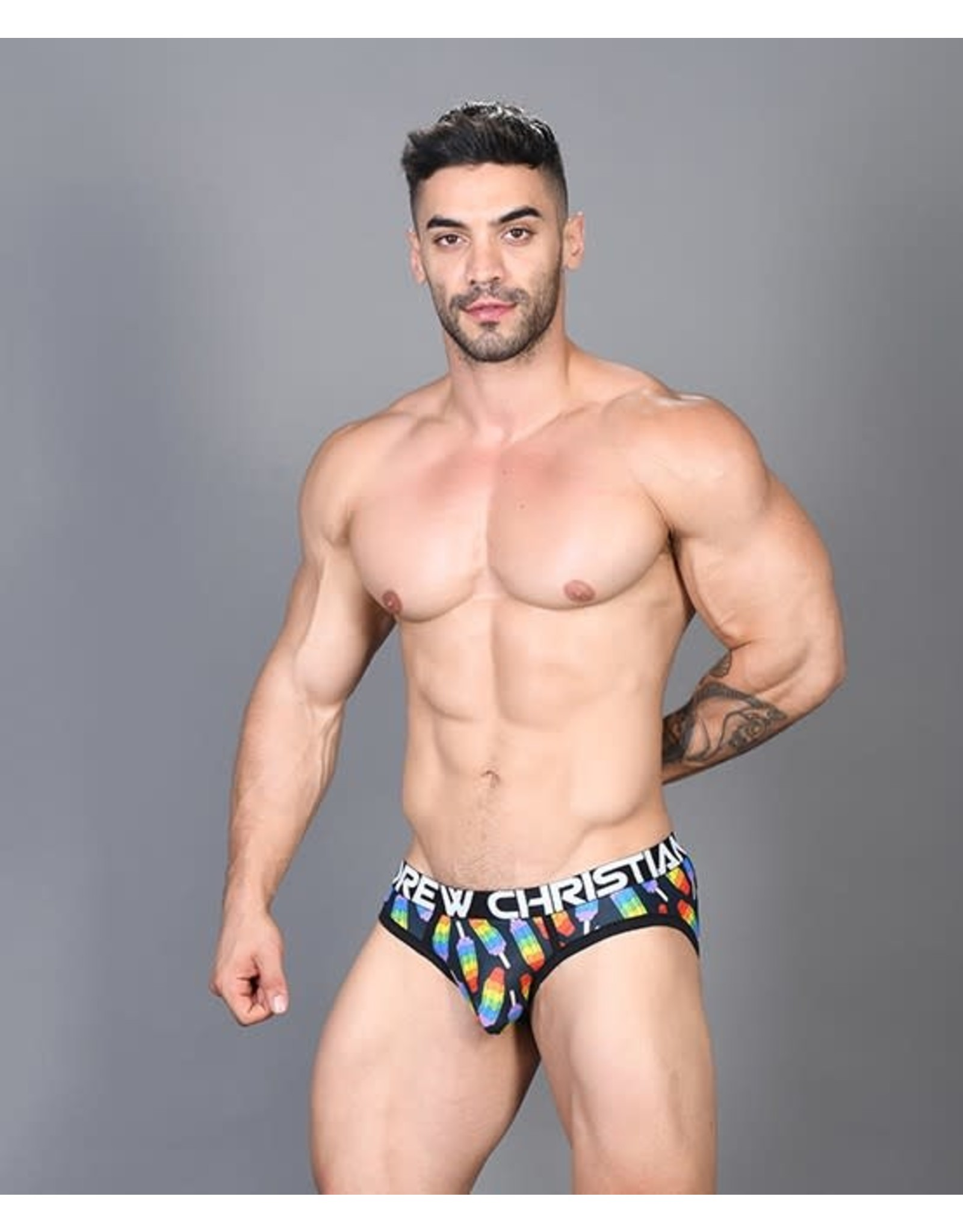 ANDREW CHRISTIAN ANDREW CHRISTIAN - POPSICLE PRIDE BRIEF W/ ALMOST NAKED - MEDIUM