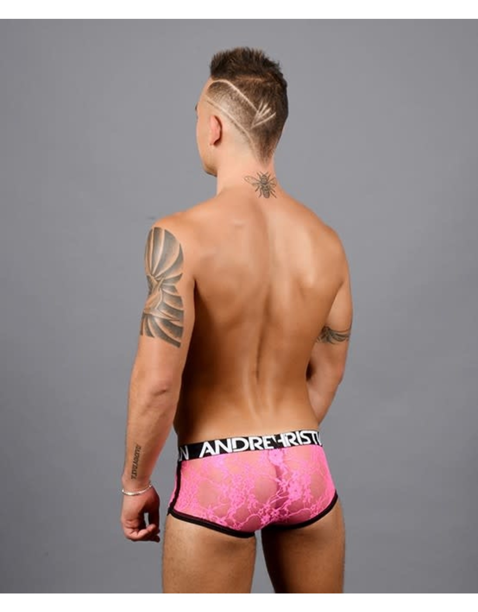 ANDREW CHRISTIAN ANDREW CHRISTIAN - SHOCKING LACE BOXER W/ ALMOST NAKED - SMALL