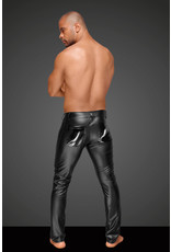NOIR HANDMADE - POWER WET LOOK MEN'S TROUSERS WITH WITH PVC - SMALL