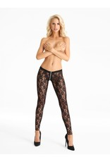 7 HEAVEN - SUPER SEXY LACE LEGGINGS WITH ZIPPER ACROSS THE CROTCH - LARGE